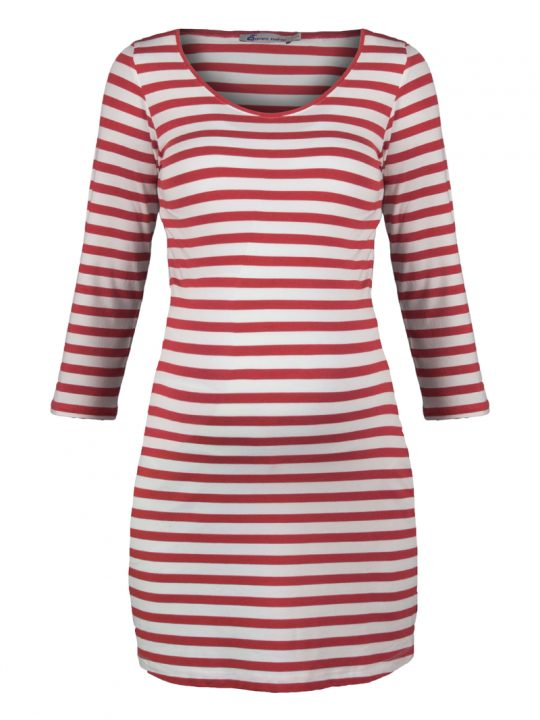 Red and White Striped maternity tunic