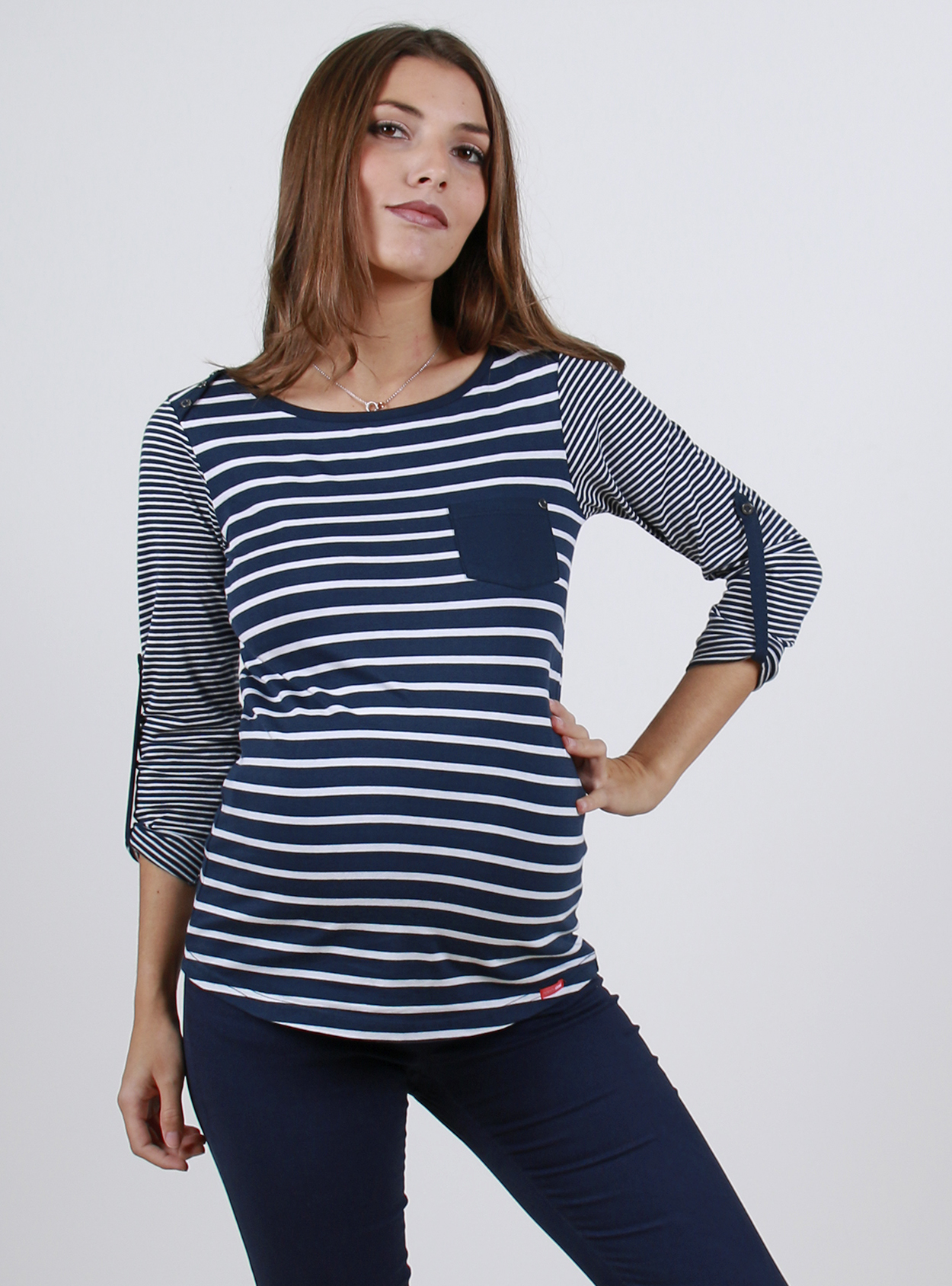 ASOS DESIGN Maternity long sleeve crew neck t-shirt with bump ruching in navy. £ ASOS DESIGN Maternity ultimate crew neck t-shirt in white. £ ASOS DESIGN Maternity ultimate crew neck t-shirt in black. £ ASOS DESIGN Maternity t-shirt in boyfriend fit with rolled sleeve and curved hem in black.