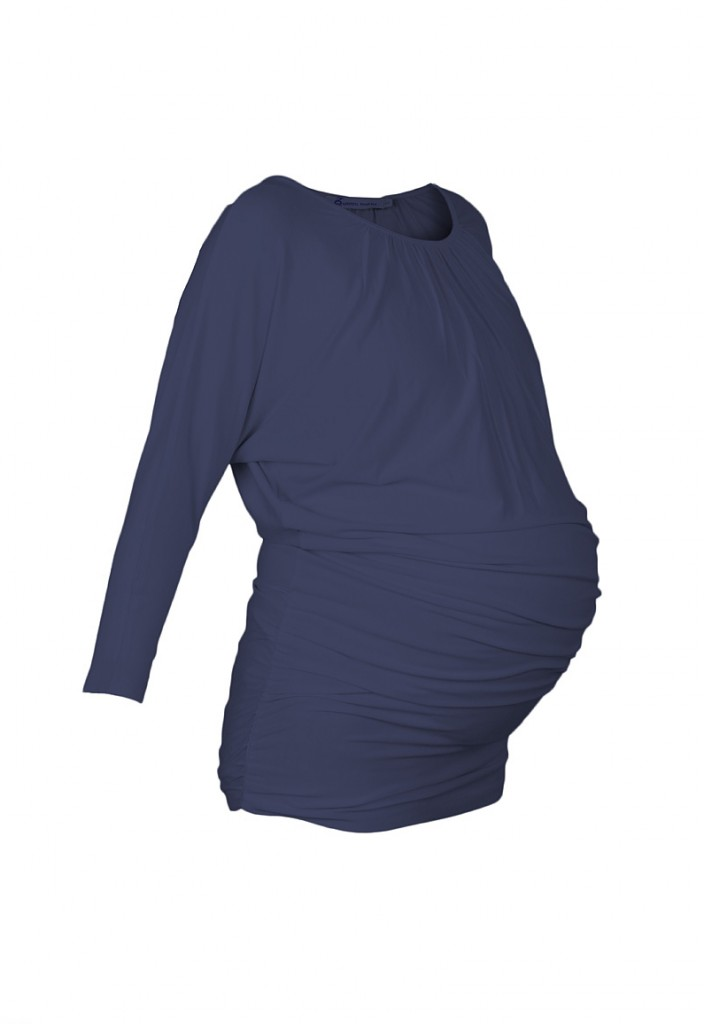 Slouch Maternity Tunic Blue