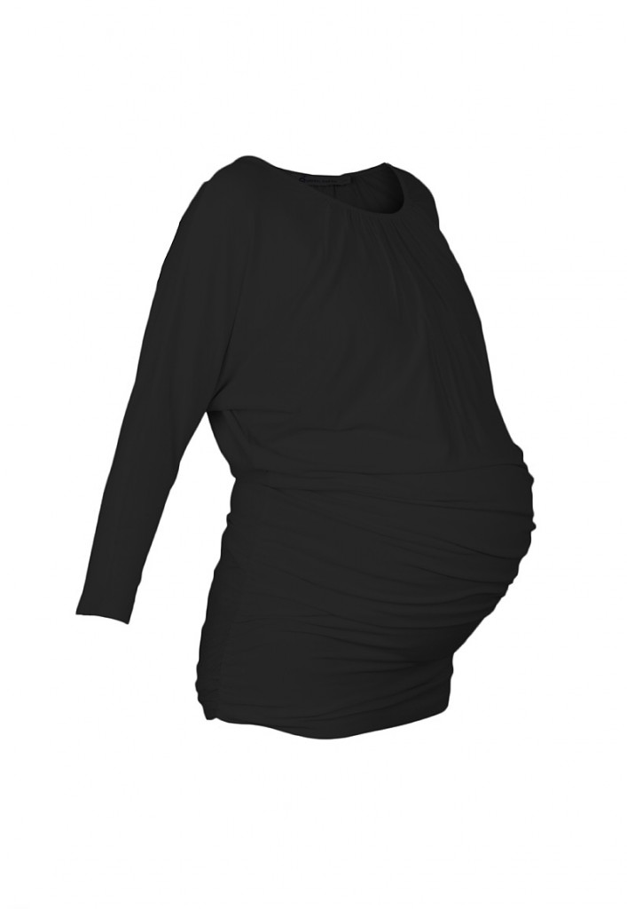 Slouch Maternity Tunic Black