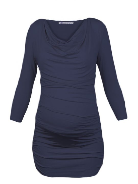 Jeans Blue Ruched Maternity Tunic
