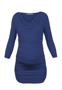Blue Ruched Maternity Tunic