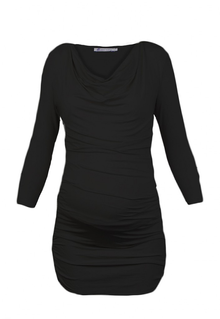 ruched Maternity Tunic Black
