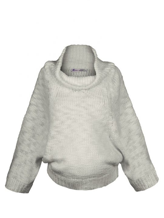 Slouch Wool Maternity Jumper in White