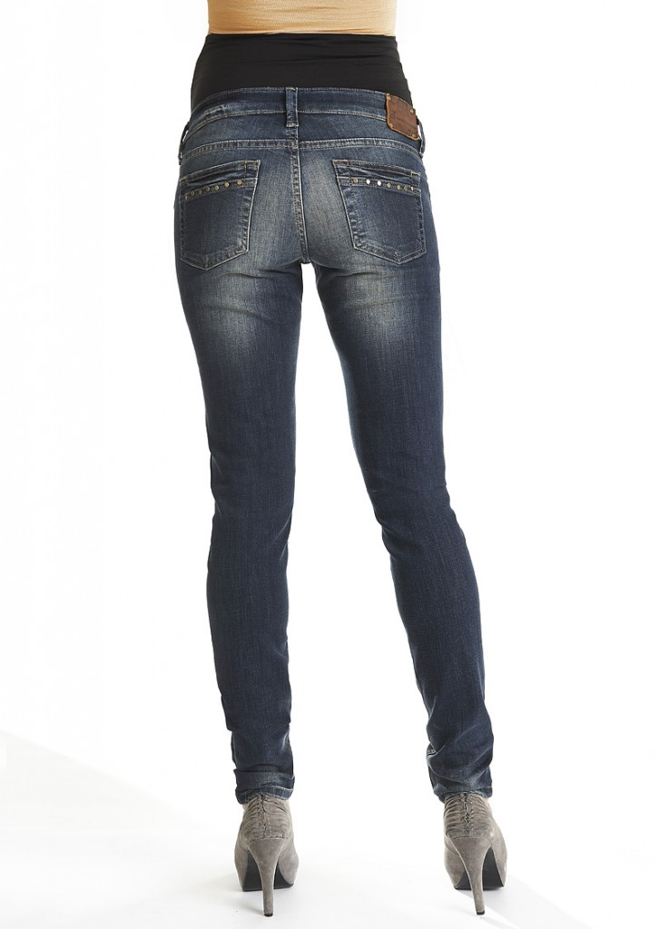 Queen Mum Skinny Maternity Jeans with Stud Detail