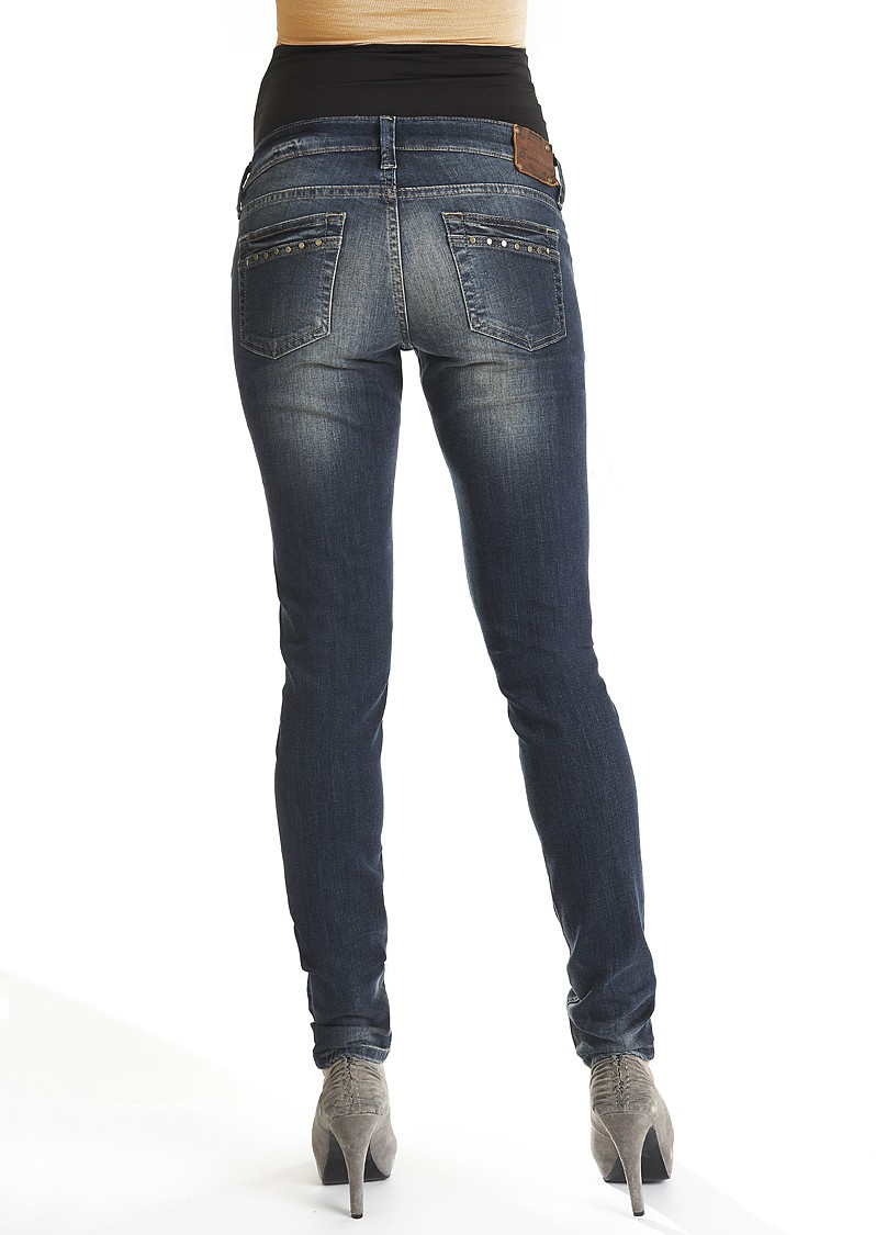98d38fac6a5b8 Queen Mum Skinny Maternity Jeans | blue denim maternity skinny jeans |  Lulibelle