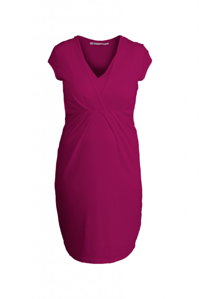 Pink Nursing Maternity Dress