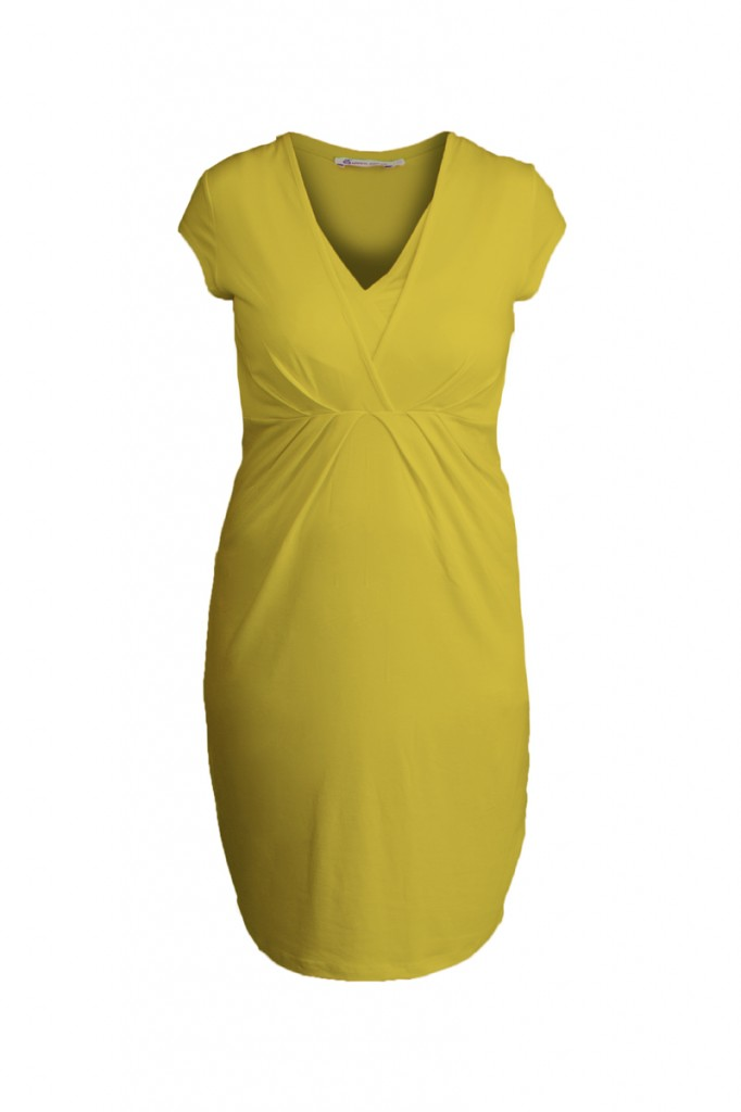 Yellow Nursing Maternity Dress