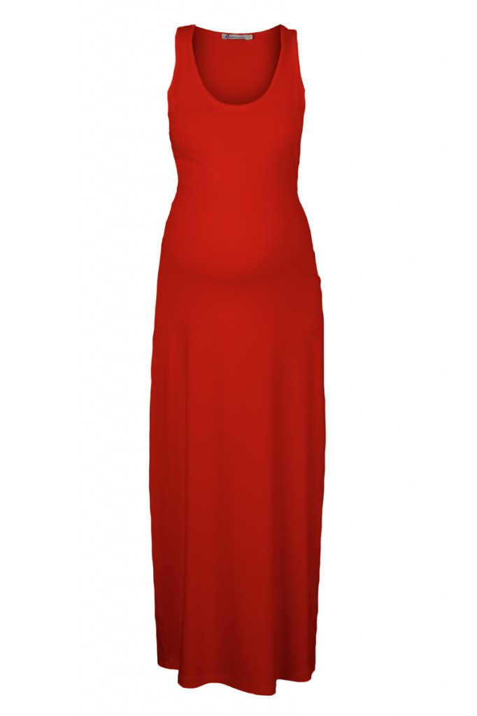 Maternity Maxi Dress in Red