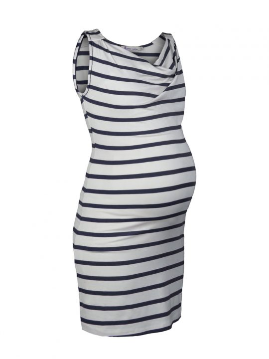Sleeveless striped maternity tunic