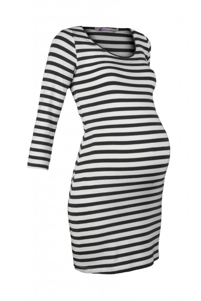 Black and White Striped maternity tunic