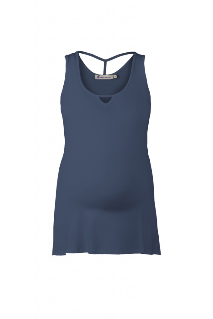 Blue Maternity Vest Top