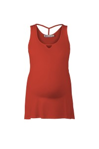 Red Maternity Vest Top