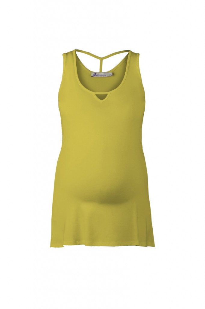 Maternity Vest Top Yellow