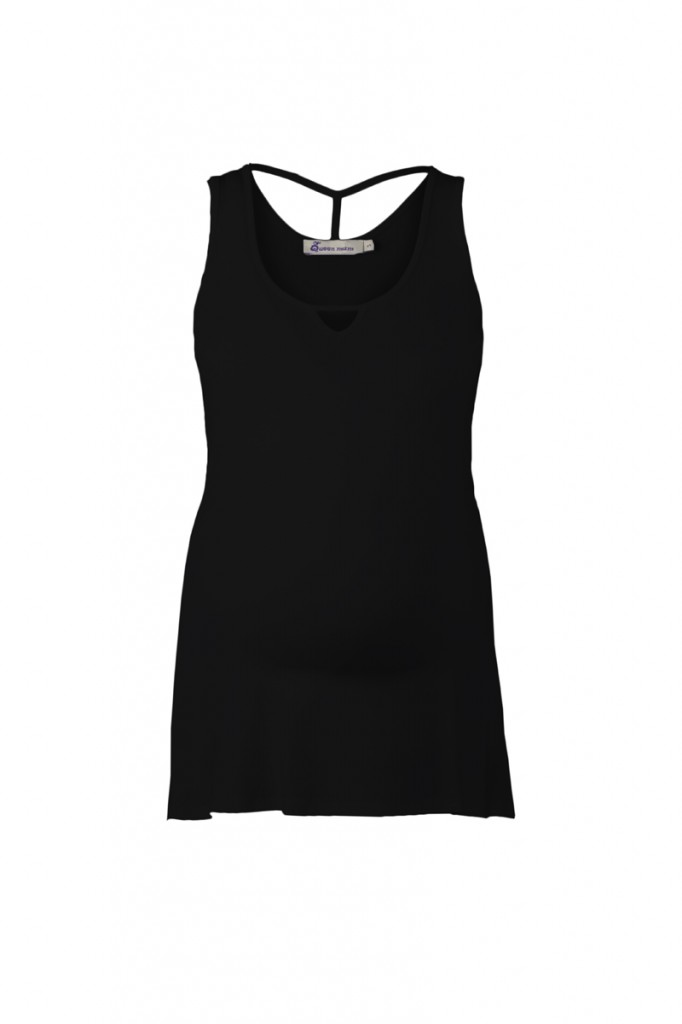 Maternity Vest Top, Black