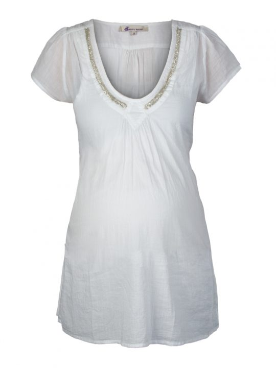 Bue Cotton Beaded Maternity Tunic