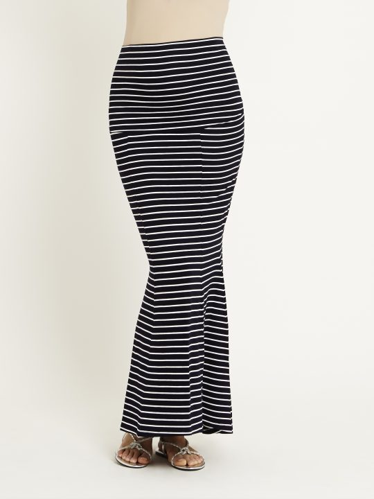 Striped Maternity Maxi Skirt