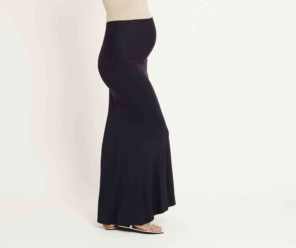 Navy Maternity Maxi Skirt