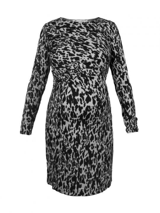Animal Print Maternity Dress