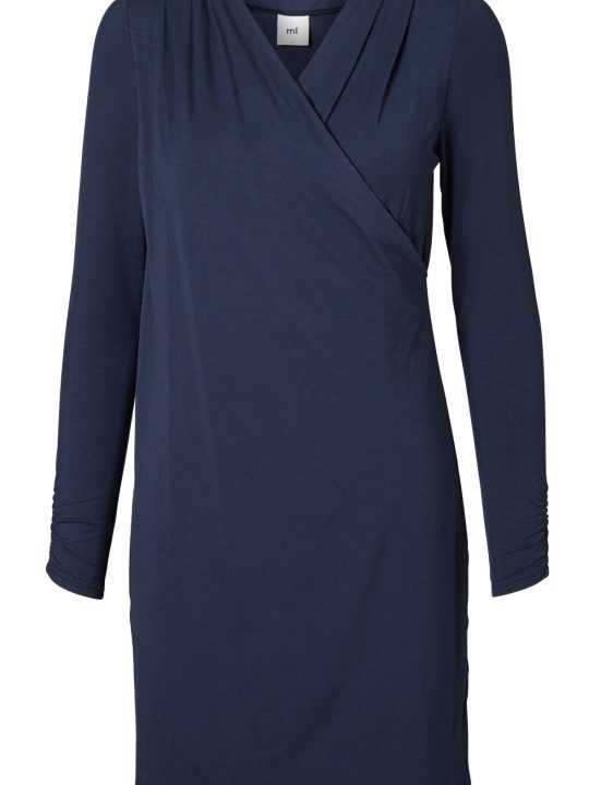 long sleeved jersey nursing dress