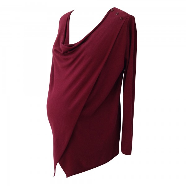 Marsala cross-over nursing cardigan