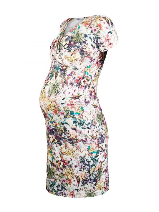 Jungle Print Maternity Dress