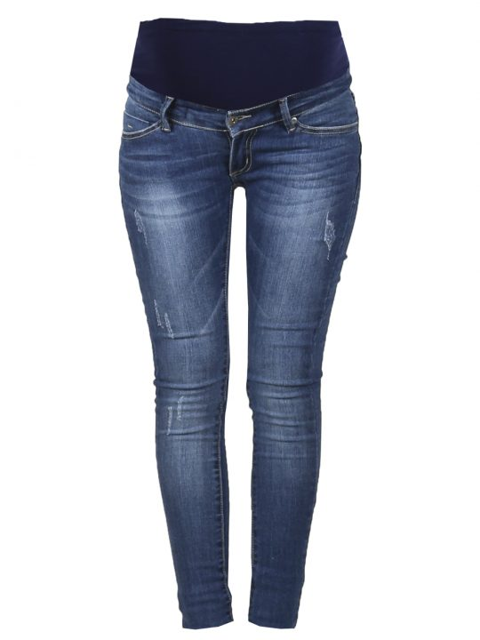 Ohma distressed denim maternity skinny jeans