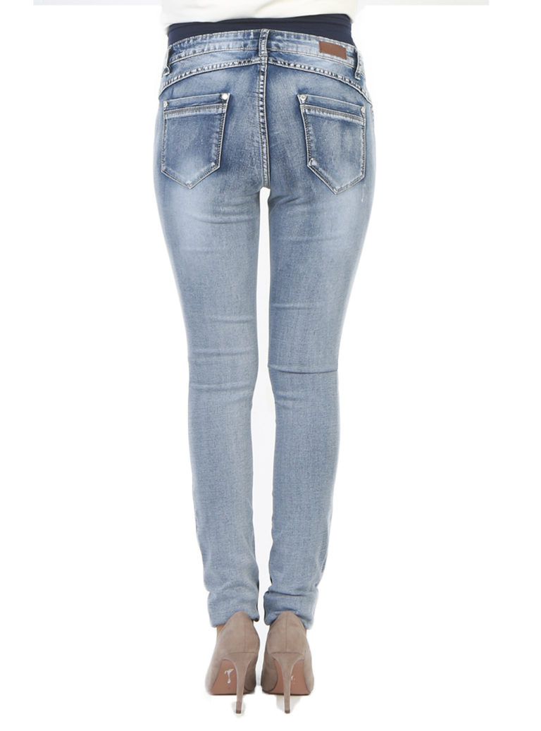 Low rise maternity jeans