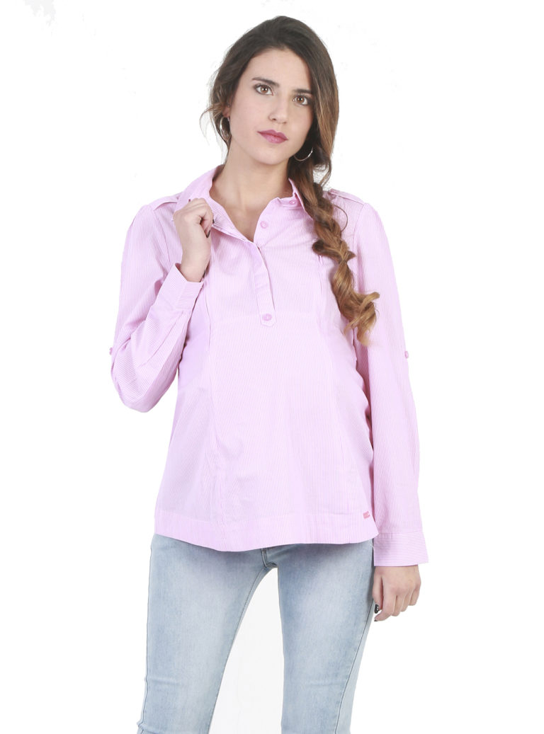 Pink pregnancy blouse