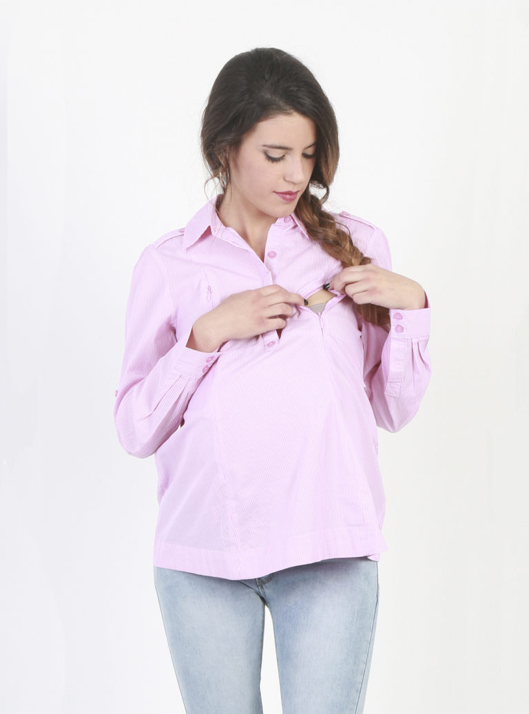 Long sleeved maternity shirt