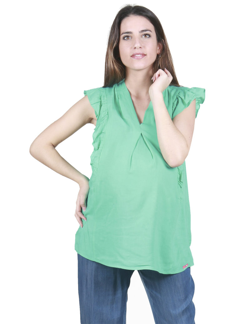 Maternity blouse green