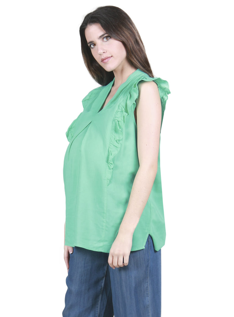 Short sleeved maternity blouse