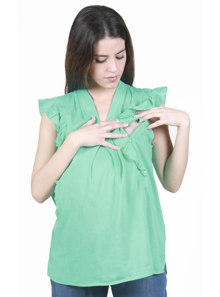 Green pregnancy top