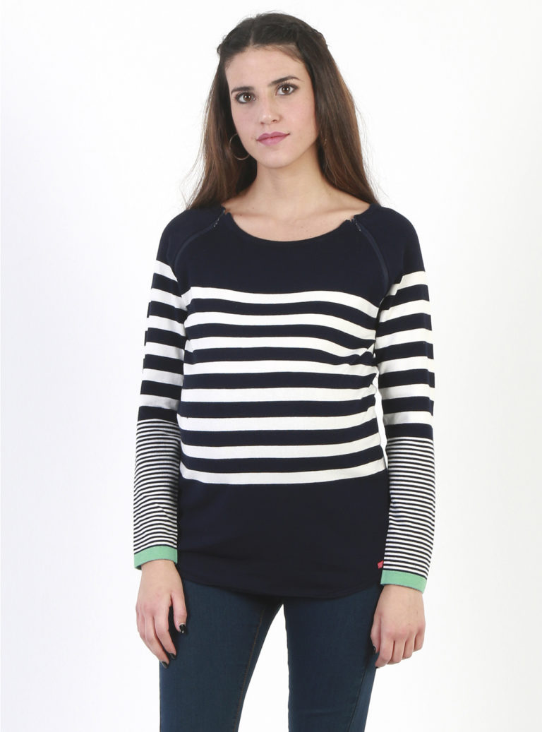 Stripey maternity jumper